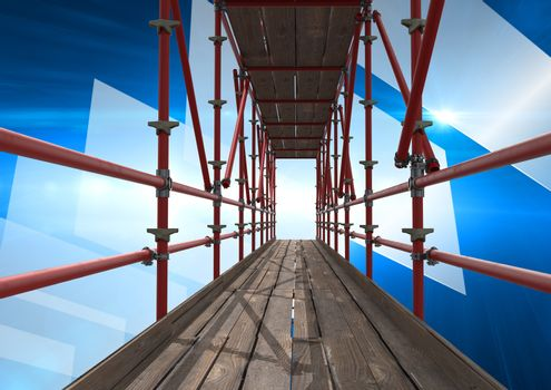 tech interface with 3D Scaffolding