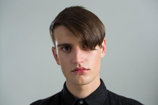 Depressed androgynous man