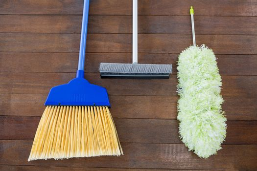 Overhead view of cleaning hand tools