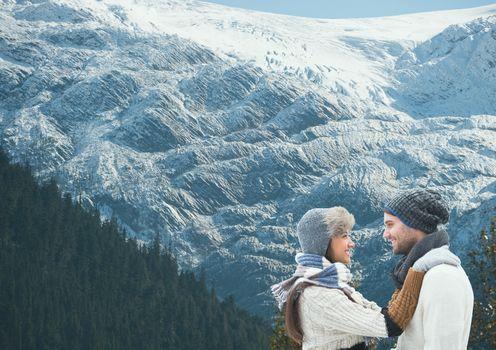 travel mountain couple