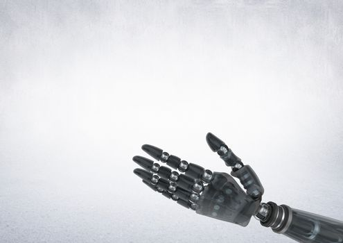 Android Robot hand with grey background