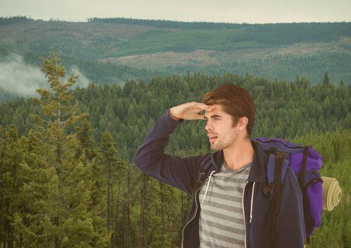 mountain travel,looking the horizon