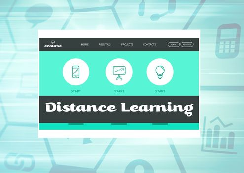Distance Learning App Interface