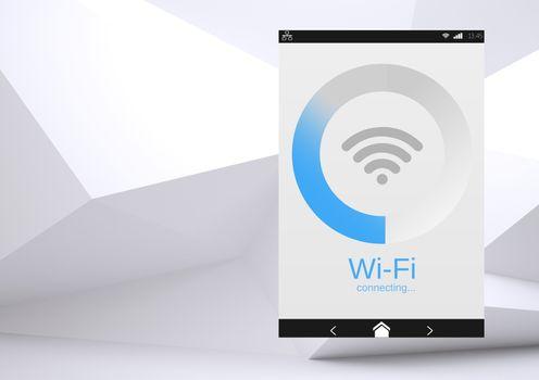 Wi-Fi App Interface minimal background