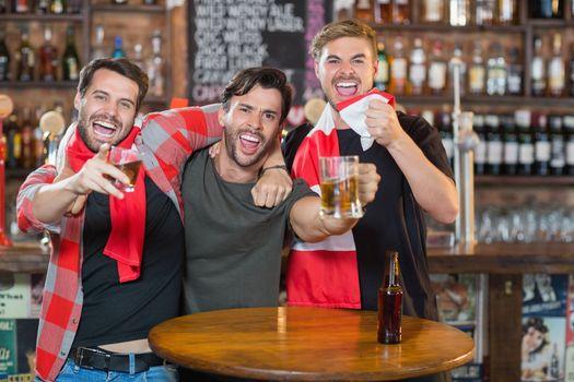 Male friends enjoying in pub