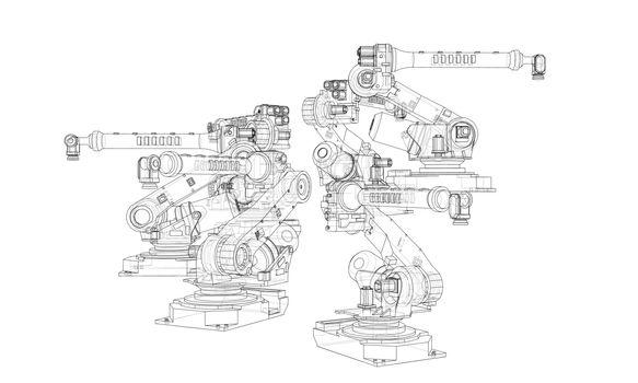 A industral robots manipulators