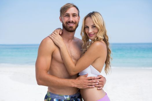 Portrait of affectionate couple at beach