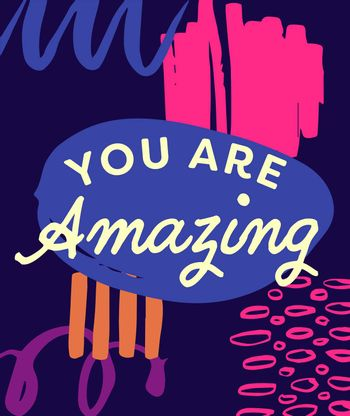 Vector of mothers day card with you are amazing message