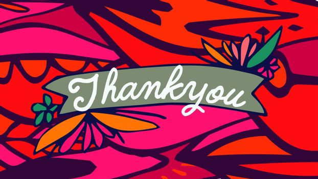 Vector of mothers day card with thank you message