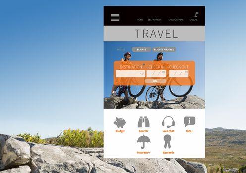 Digital composite of Travel App Interface