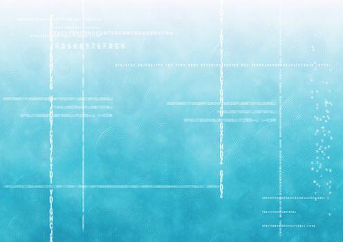 White code against blue gradient