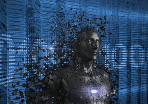 Digitally generated image of 3d human
