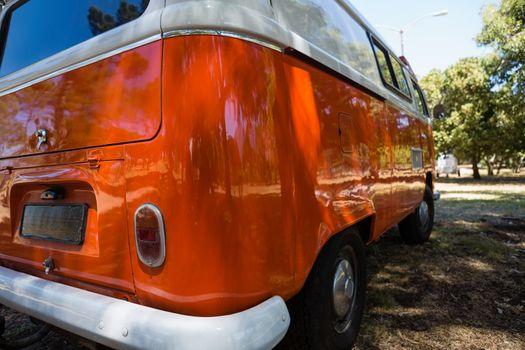 Camper van in the park