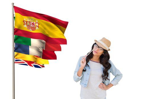 main language flags around