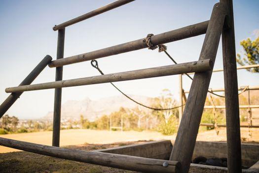 Outdoor equipment in boot camp