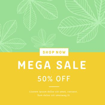 Mega sale brochure card