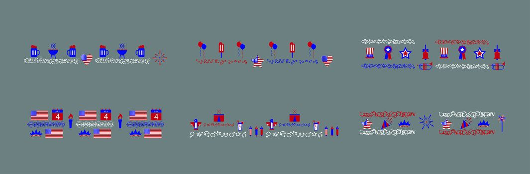 Vector icon for fourth of July