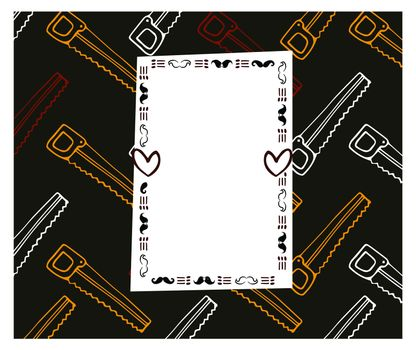 Vector of card with saw design