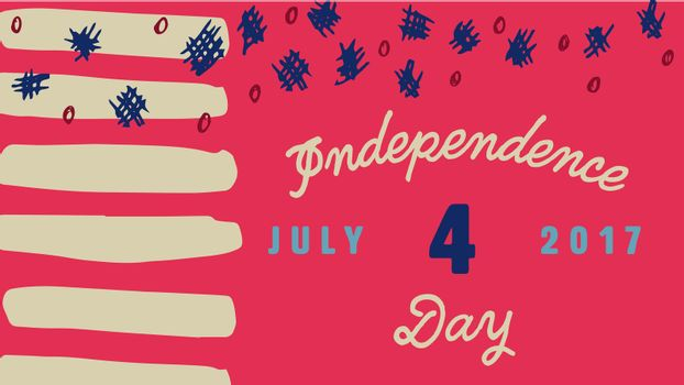 Greeting card with fourth of july message