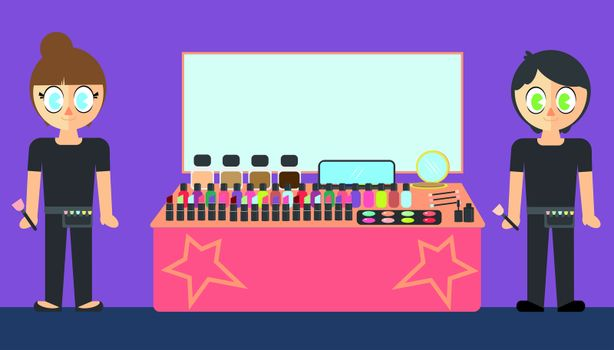 Vector set of hair stylist and accessories