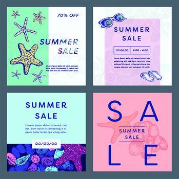 Various summer sale discount coupon