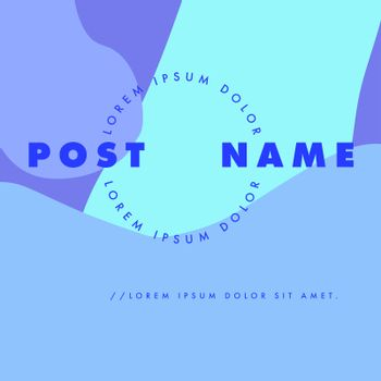 Vector image of card with text lorem ipsum and post name