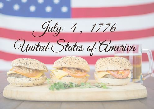 Independence Day declaration with Burgers