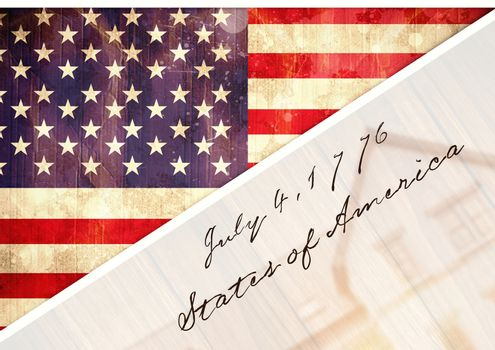 Postcard about independence day