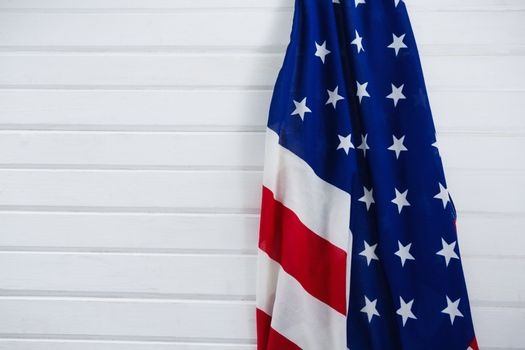 Close-up of an American flag