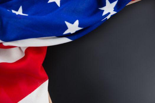 American flag on slate