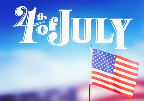Digital composite of 4th of July design with american flag