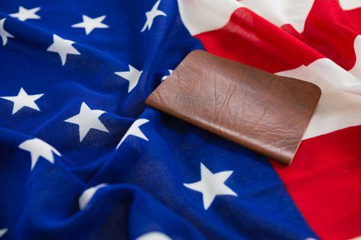 Visa on an American flag