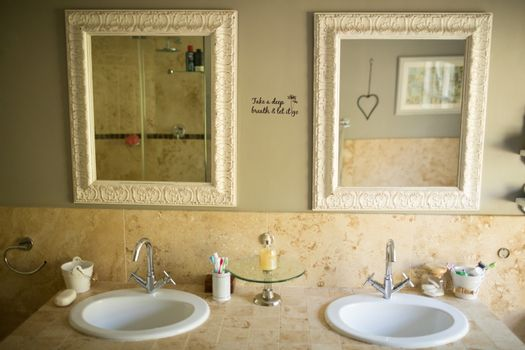 Mirror over sinks