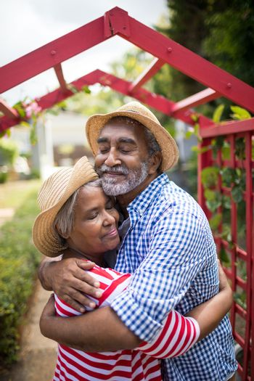 Affectionate senior couple embracing