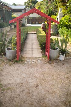Entrance at back yard