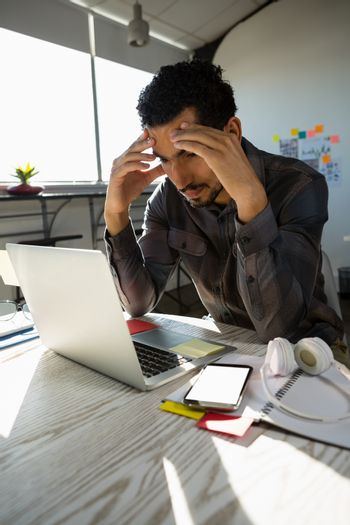 Frustrated businessman at office