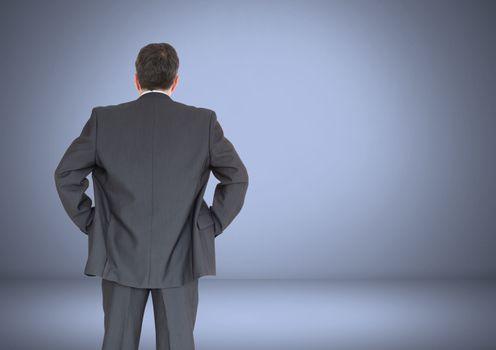 Back of Man Looking at vignette