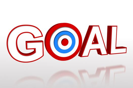 The word goal with target