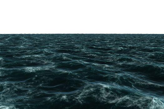 Digitally generated Rough blue sea