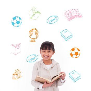 Composite image of school activity doodles