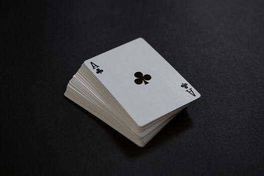 Close-up of card deck