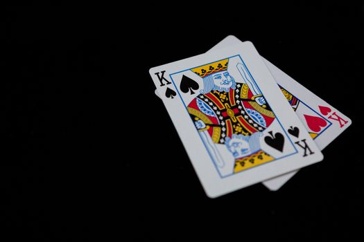 Close-up of king cards