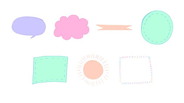 Vector set of various thought bubble