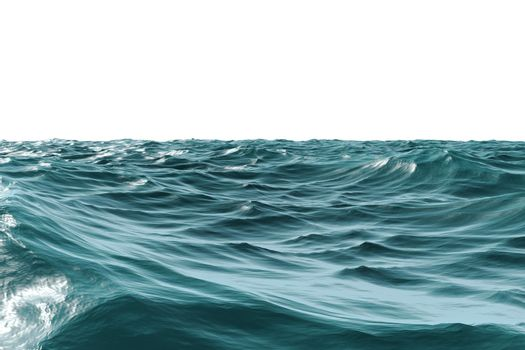 Digitally generated Rough blue ocean