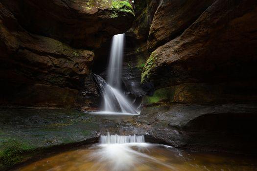Majestic canyon and waterfall