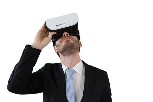 Businessman with vr glasses
