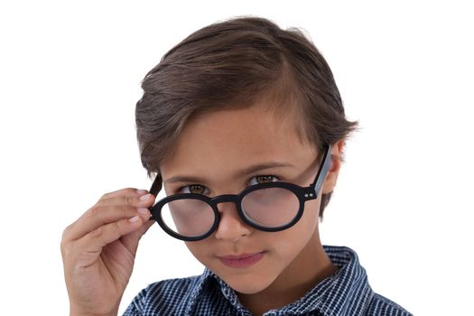 Portrait of boy in spectacles