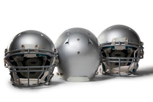 Sports helmet arranged side by side