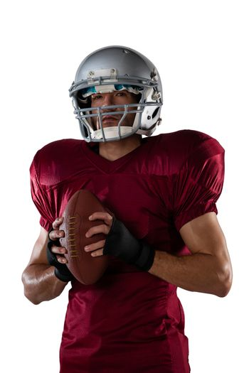 Sportsman with American football