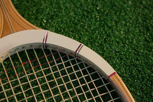 Cropped image of racket